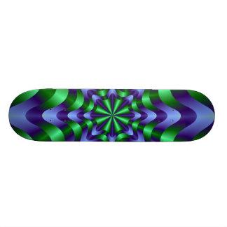 Blue and Green Swirl Skateboard