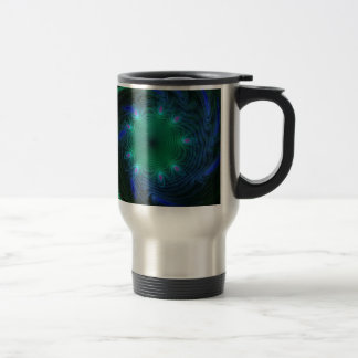Blue And Green Swirls Travel Mug