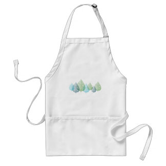 blue and green vein leaves standard apron