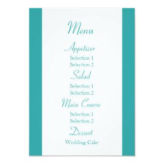 Blue and Green Wedding Reception Dinner Menu Custom Announcements