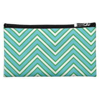 Blue and Green Zig Zag Bag