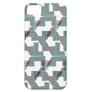 Blue and grey abstract pattern barely there iPhone 5 case