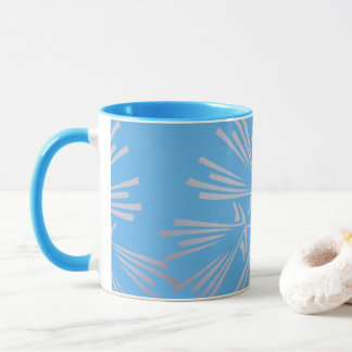 Blue and Grey Abstract Pattern Tea/Coffee Mug