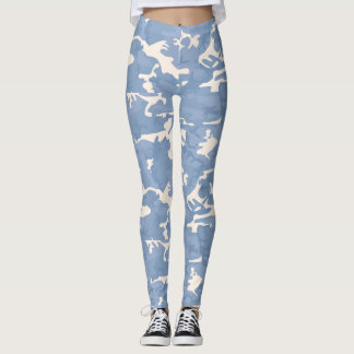 Blue and Grey Camo Patterned Tights