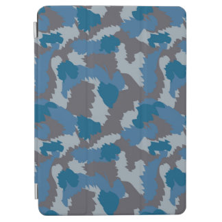Blue and Grey Camouflage iPad Air Cover