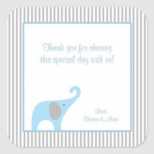 Blue and Grey Elephant Baby Shower Favour Treat