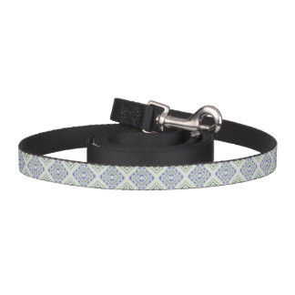 Blue and grey repeating diamonds pet lead
