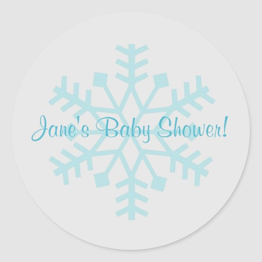 Blue and Grey Snowflake Sticker