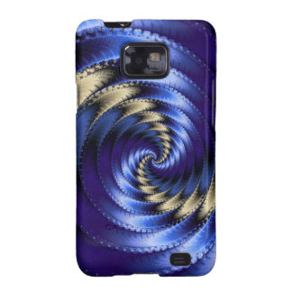 Blue And Grey Spiral Fractal Samsung Galaxy SII Cover