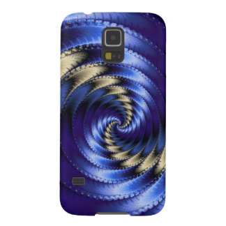 Blue And Grey Spiral Fractal Case For Galaxy S5