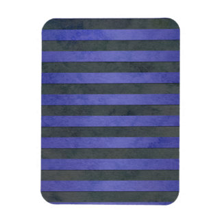 Blue and Grey Stripes Pattern Rectangle Magnets