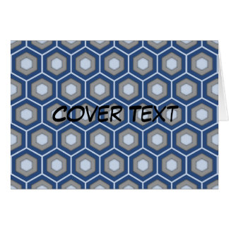 Blue and Grey Tiled Hex Card