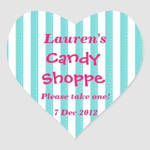 blue and hot pink Candy Shoppe Sticker