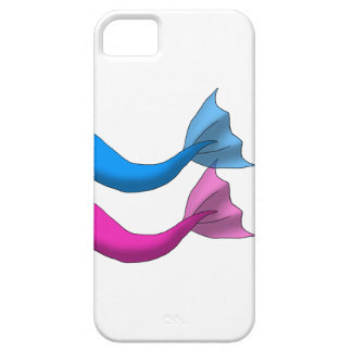 Blue and Hot Pink Mermaid Tails Barely There iPhone 5 Case