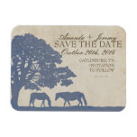 Blue and Ivory Vintage Horse Farm Save The Date