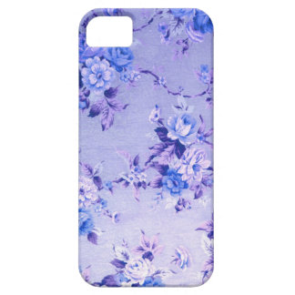 Blue and Lavender Floral Textured Pattern. iPhone 5 Cover