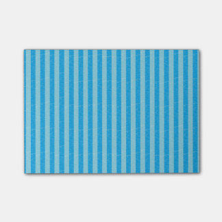 Blue and Light Blue Stripes Post-it Notes