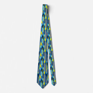 Blue and Lime green 1960s retro style tie