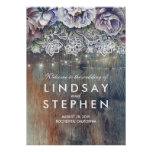 Blue and Maroon Floral Lace Wedding Welcome Sign
