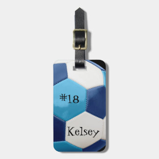 Blue and Navy, Soccer Bag Tag