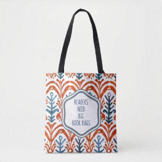 Blue and Orange Big Book Bag