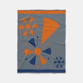 Blue and orange blanket