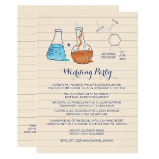 Blue and Orange Chemistry Wedding Programs 13 Cm X 18 Cm Invitation Card