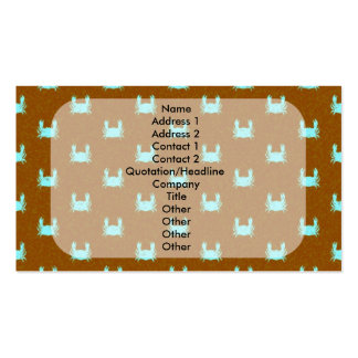 Blue and Orange Crab Pattern Pack Of Standard Business Cards