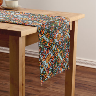 Blue And Orange Dragonfly Pattern Medium Table Runner