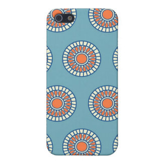 Blue and Orange Mandala Decorative Circles Case For iPhone 5/5S