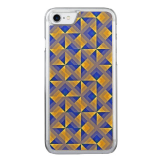 Blue and Orange Mosaic Carved iPhone 8/7 Case