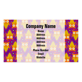 Blue and Orange Owl Pattern Business Card Templates