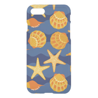 Blue And Orange Seashell Pattern iPhone 8/7 Case