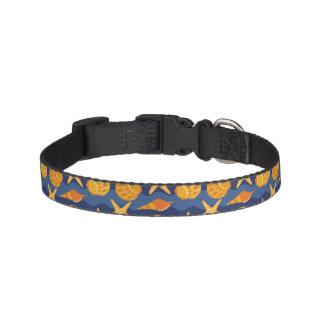 Blue And Orange Seashell Pattern Pet Collar