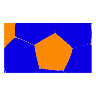 Blue and Orange Soccer Ball Business Card Templates