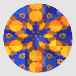 Blue and Orange Star Sticker