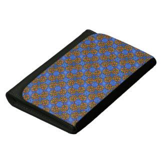Blue And Orange Sunflowers Pattern Women's Wallets