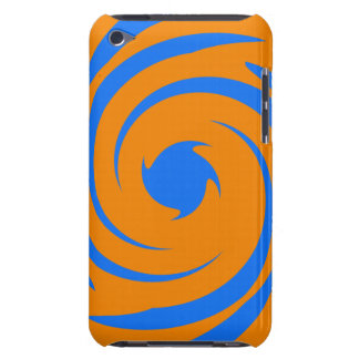 Blue and orange swirl Case-Mate iPod touch case