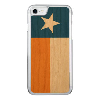 Blue and Orange Texas Flag Carved iPhone 7 Case