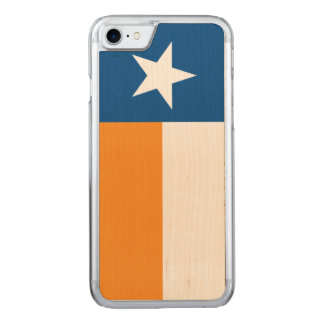 Blue and Orange Texas Flag Carved iPhone 8/7 Case