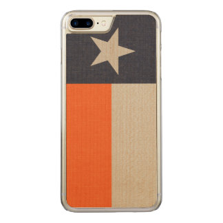 Blue and Orange Texas Flag on Fabric Carved iPhone 8 Plus/7 Plus Case
