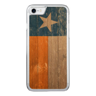 Blue and Orange Texas Flag Painted Old Wood Carved iPhone 8/7 Case