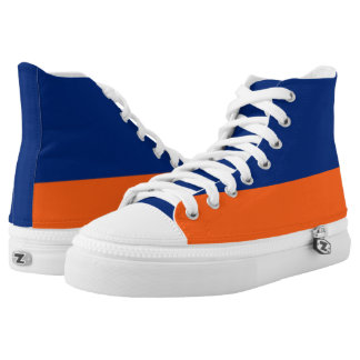 Blue and Orange Two-Tone Hi-Tops