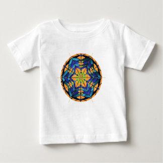 Blue and Peach Dreamcatcher Mandala Baby Shirt