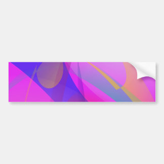 Blue and Pink Abstract Print Art Bumper Sticker