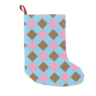 Blue and pink argyle pattern