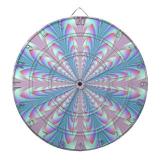 Blue and Pink Arrowheads Dartboard