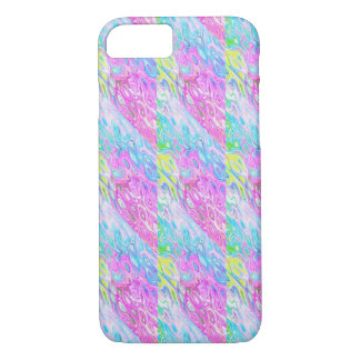 Blue and pink art Apple iPhone 8/7, Barely There iPhone 8/7 Case