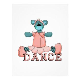 Blue and Pink Ballerina Dance Bear Flyer