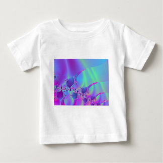 Blue And Pink Bubble Fractal Baby T-Shirt